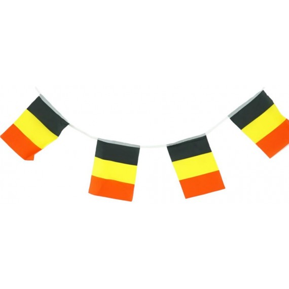 'Guirnalda de Bandera Bélgica de Plástico de 20 x 30 Centímetros 50 Metros