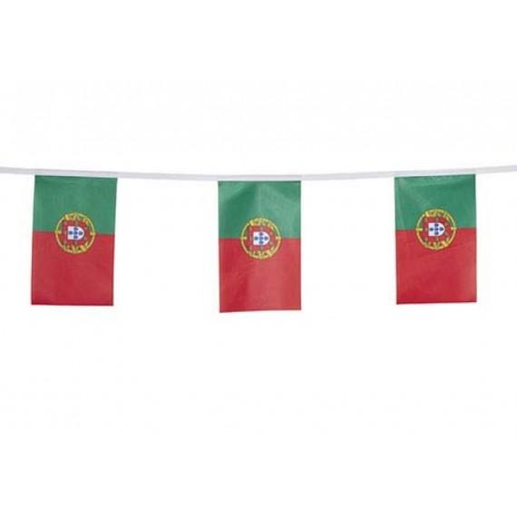 'Guirnalda de Bandera Portugal de Plástico de 20 x 30 Centímetros 50 Metros