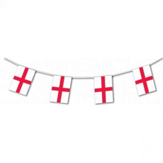 'Guirnalda de Bandera Inglaterra de Plástico de 20 x 30 Centímetros 50 Metros