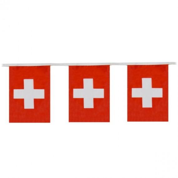 'Guirnalda de Bandera Suiza de Plástico de 20 x 30 Centímetros 50 Metros