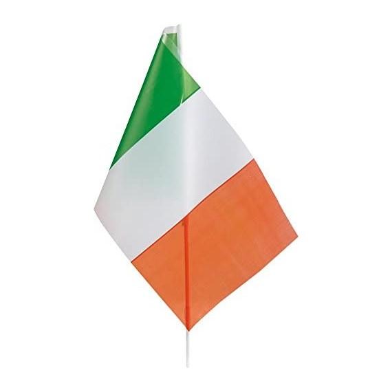 Bandera de Irlanda de Plástico de 20 x 30 Centímetros con Palo