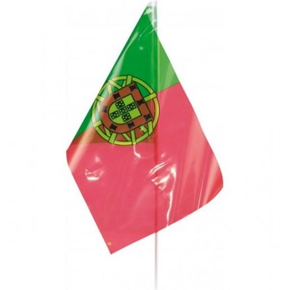'Bandera de Portugal de Plástico de 20 x 30 Centímetros con Palo