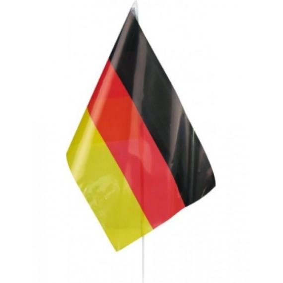 Bandera de Alemania de Plástico de 20 x 30 Centímetros con Palo