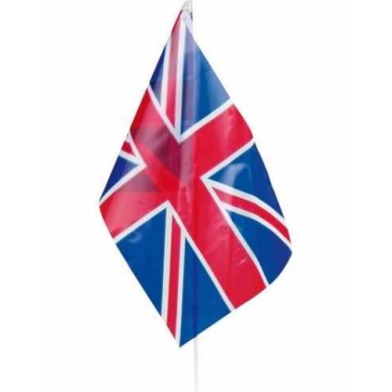 'Bandera de Gran Bretaña de Plástico de 20 x 30 Centímetros con Palo