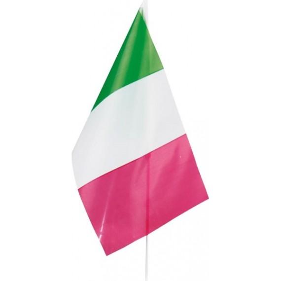 'Bandera de Italia de Plástico de 20 x 30 Centímetros con Palo