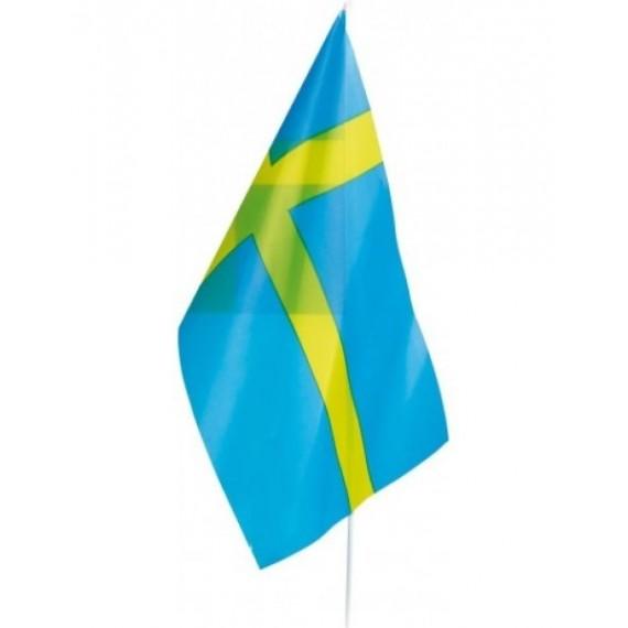 'Bandera de Suecia de Plástico de 20 x 30 Centímetros con Palo
