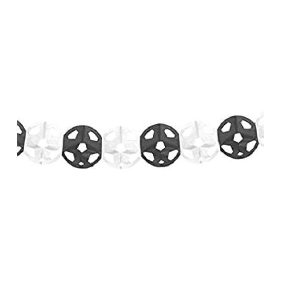 'Guirnalda de Balón de 3 Metros de color Blanco y Negro