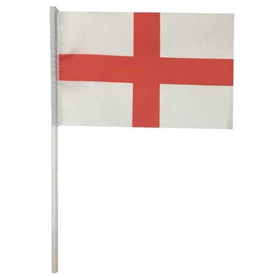 'Bandera de Inglaterra de Plástico de 20 x 30 Centímetros con Palo
