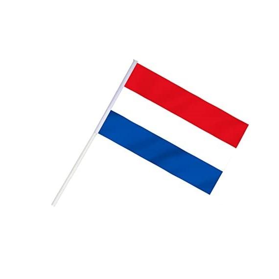 'Bandera de Países Bajos de Plástico de 20 x 30 Centímetros con Palo