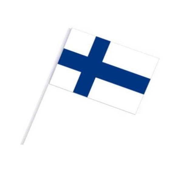 Bandera de Finlandia de Plástico de 20 x 30 Centímetros con Palo