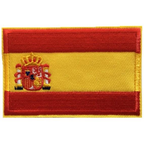 Parche Bordado de Bandera España de 7,80 x 4,80 Centímetros