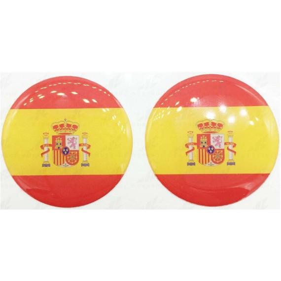 Pegatina de Resina Bandera de España de 33 Milímetros