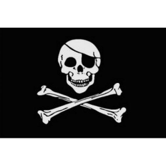 Bandera de Pirata de 90 x 150 Centímetros de Poliéster para Interior