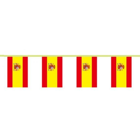 'Guirnalda de Bandera España de Poliéster de 18 x 28 Centímetros