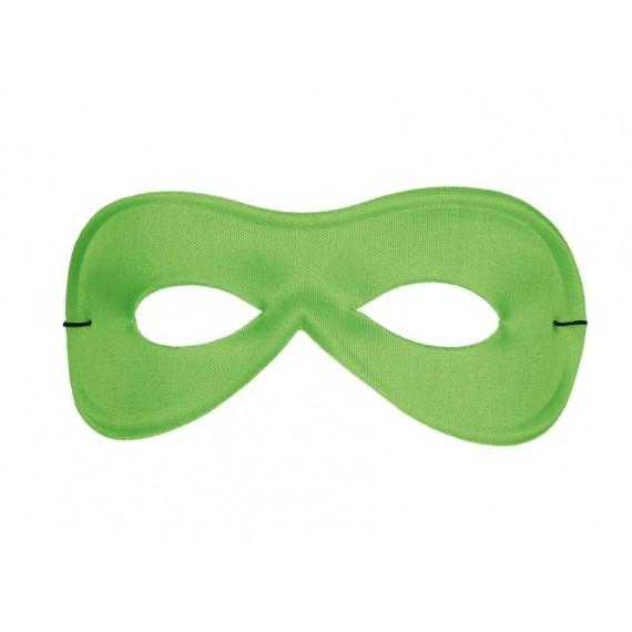 Antifaz de Pierrot de Seda de color Verde para Adulto