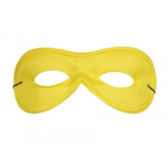Antifaz de Pierrot de Seda de color Amarillo para Adulto