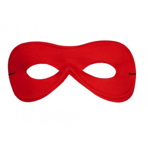 Antifaz de Pierrot de Seda de color Rojo Para Adulto