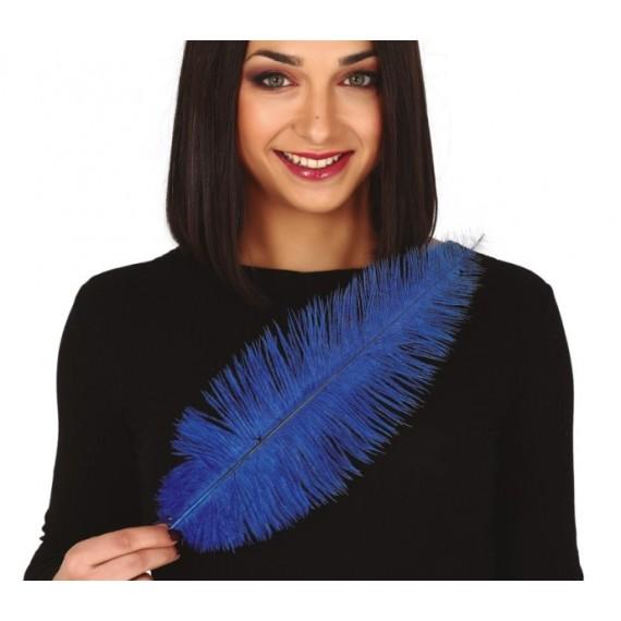 Pluma de Avestruz de 40 Centímetros de color Azul