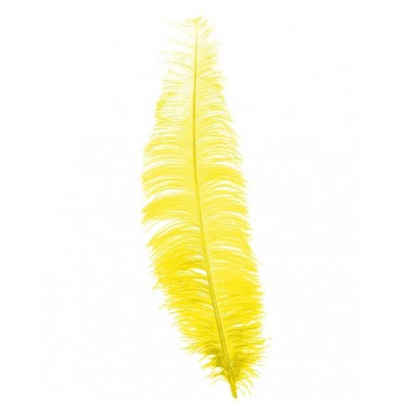 Pluma de Avestruz de 40 Centímetros de color Amarillo