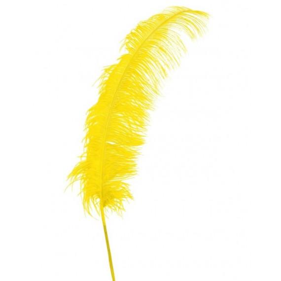 Pluma de Avestruz de 50 Centímetros de color Amarillo