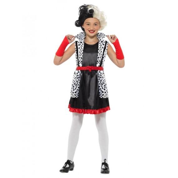 Disfraz de Cruela Mala Infantil