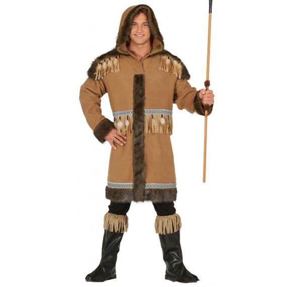 Disfraz de Esquimal de color Marrón para Adulto