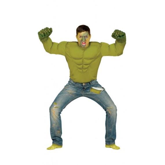 Camiseta de Héroe Enfadado de color Verde para Adulto