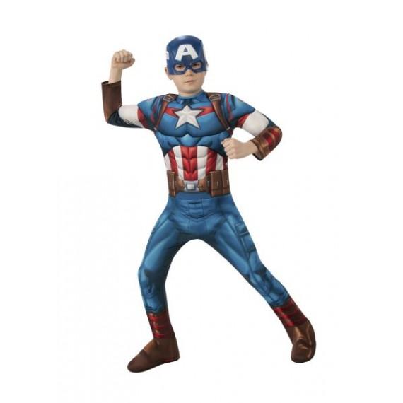 Disfraz de Capitán América Clásico de Avengers Infantil