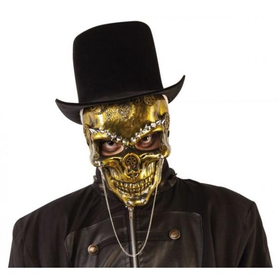 Máscara de Esqueleto Steampunk para Adulto