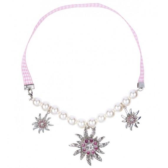 Collar de Perlas y Edelweiss con Strass para Adulto