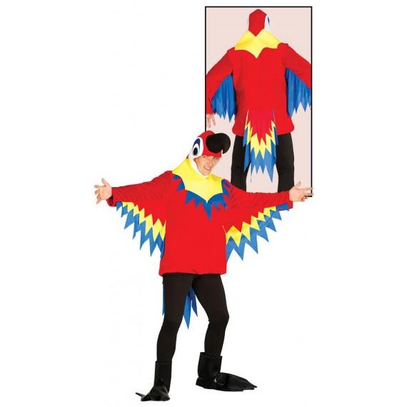 Disfraz de Loro de color Rojo para Adulto