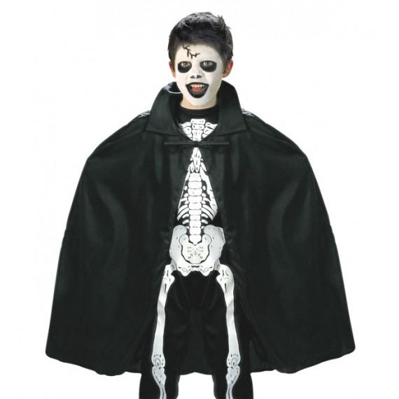 Capa de 90 Centímetros de color Negro Infantil