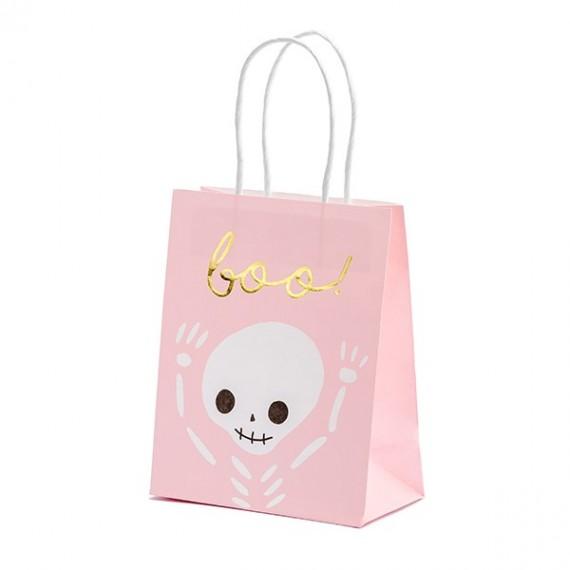 Bolsa de Regalo Boo de 14 x 18 x 8 Centímetros de color Rosa