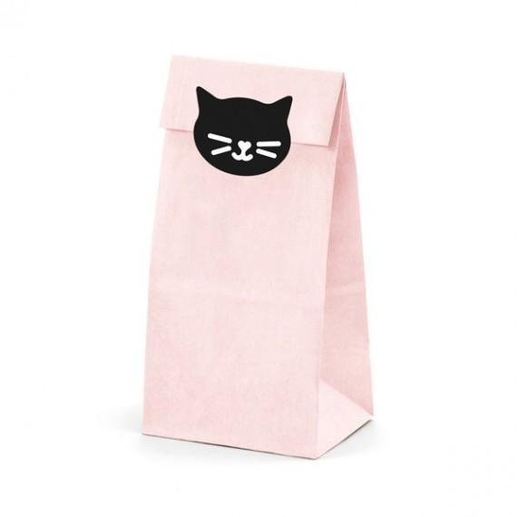 Bolsa de Gato 6 Unidades de 8 x 18 x 6 Centímetros de color Rosa
