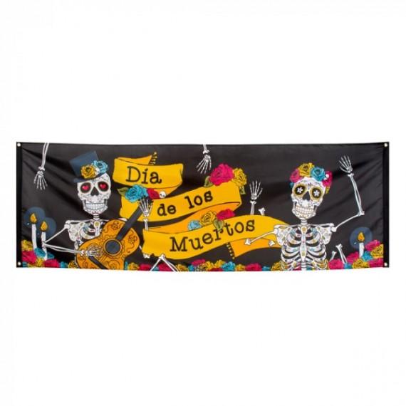 Banner del Día de los Muertos Mexicano de 74 x 220 Centímetros