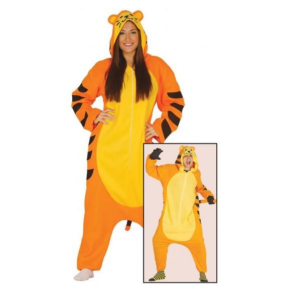 Disfraz de Tigre de color Naranja para Adulto