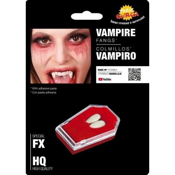 Colmillos de Vampiro con Adhesivo