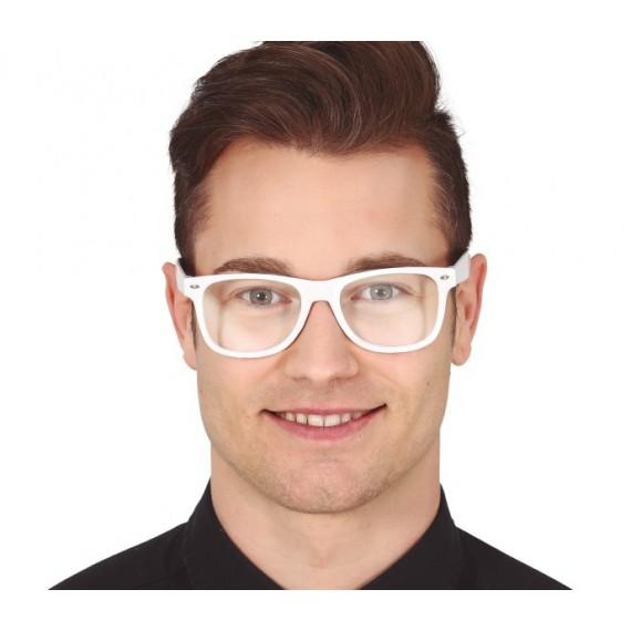 Gafas de color Blanco con Cristales Transparentes