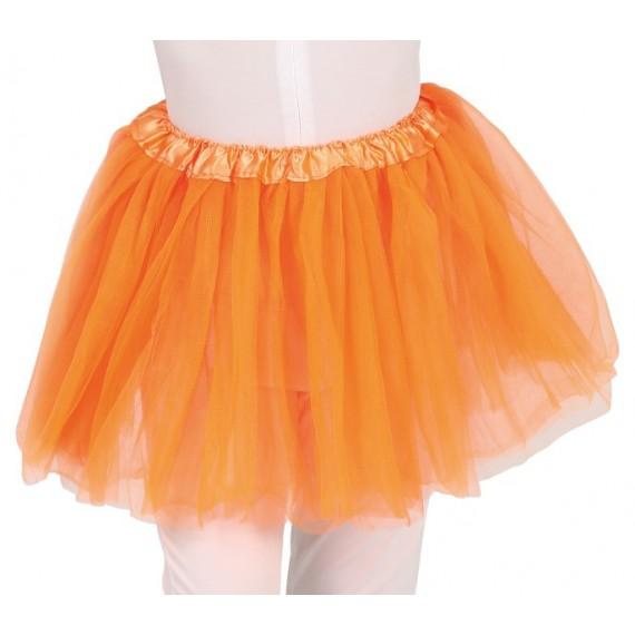 Tutú de 30 Centímetros de color Naranja Infantil