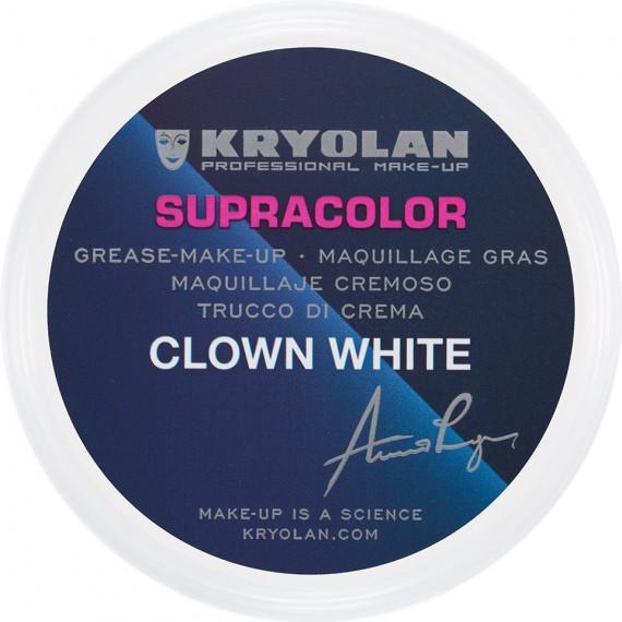 Maquillaje en Crema Supracolor Clown White de 150 Mililitros de Kryolan