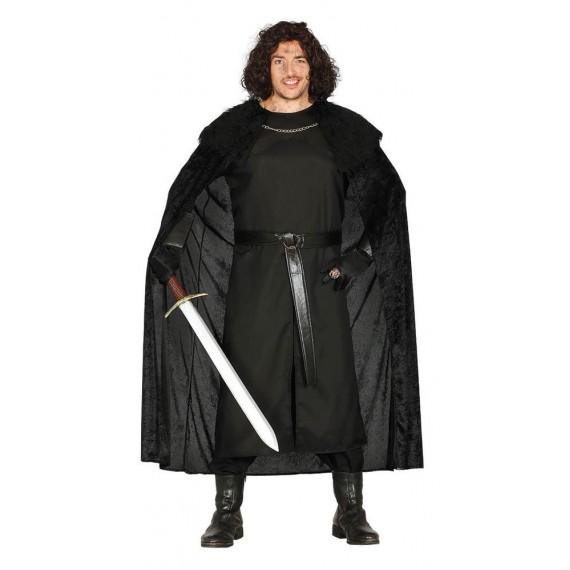 Disfraz de Vigilante Medieval de color Negro para Adulto