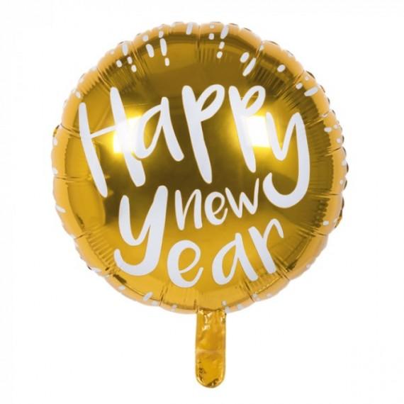 Globo Foil de Happy New Year de 45 Centímetros de color Oro