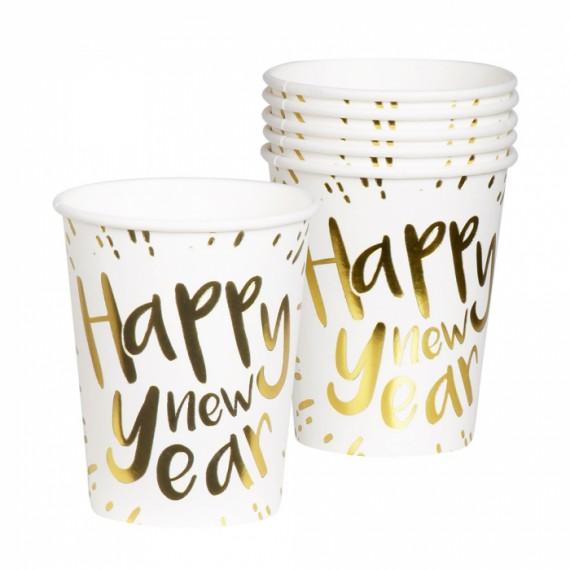 Vaso de Happy New Year 6 Unidades de 25 Centilitros