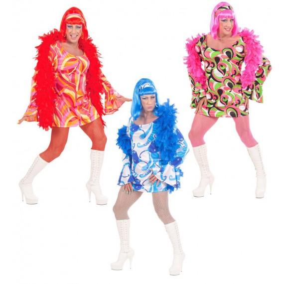 Disfraz de Chica de los años 70s Varios Colores para Adulto