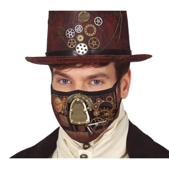 Mascarilla de Tela con Doble Capa de Steampunk para Adulto