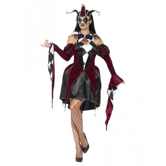 Disfraz de Arlequín Gótico Veneciano para Adulto