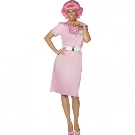 Disfraz de Frenchy de Escuela de Belleza de Grease para Adulto