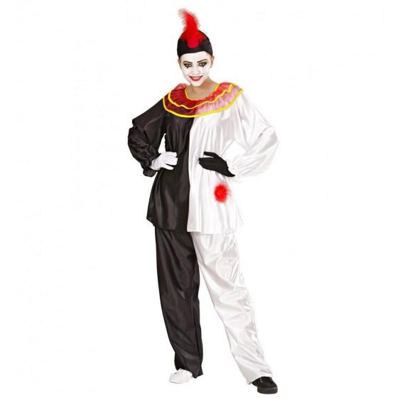 Disfraz de Chica Arlequín Pierrot para Adultos