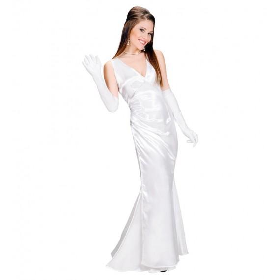 Disfraz de Chica Celebrity de color Blanco para Adultos