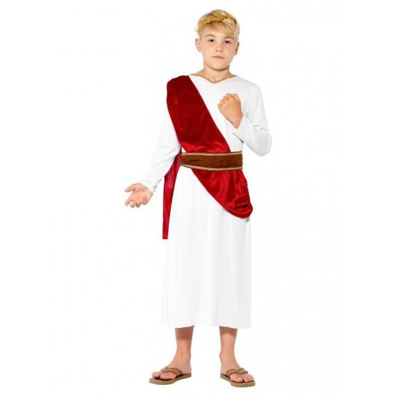 Disfraz de Romano de color Blanco para Niños